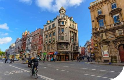 Dublin city center, Dublin - Ireland Oct 2017 A picture of the city center in Dublin, Ireland